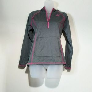 The North Face gray and pink Jacket